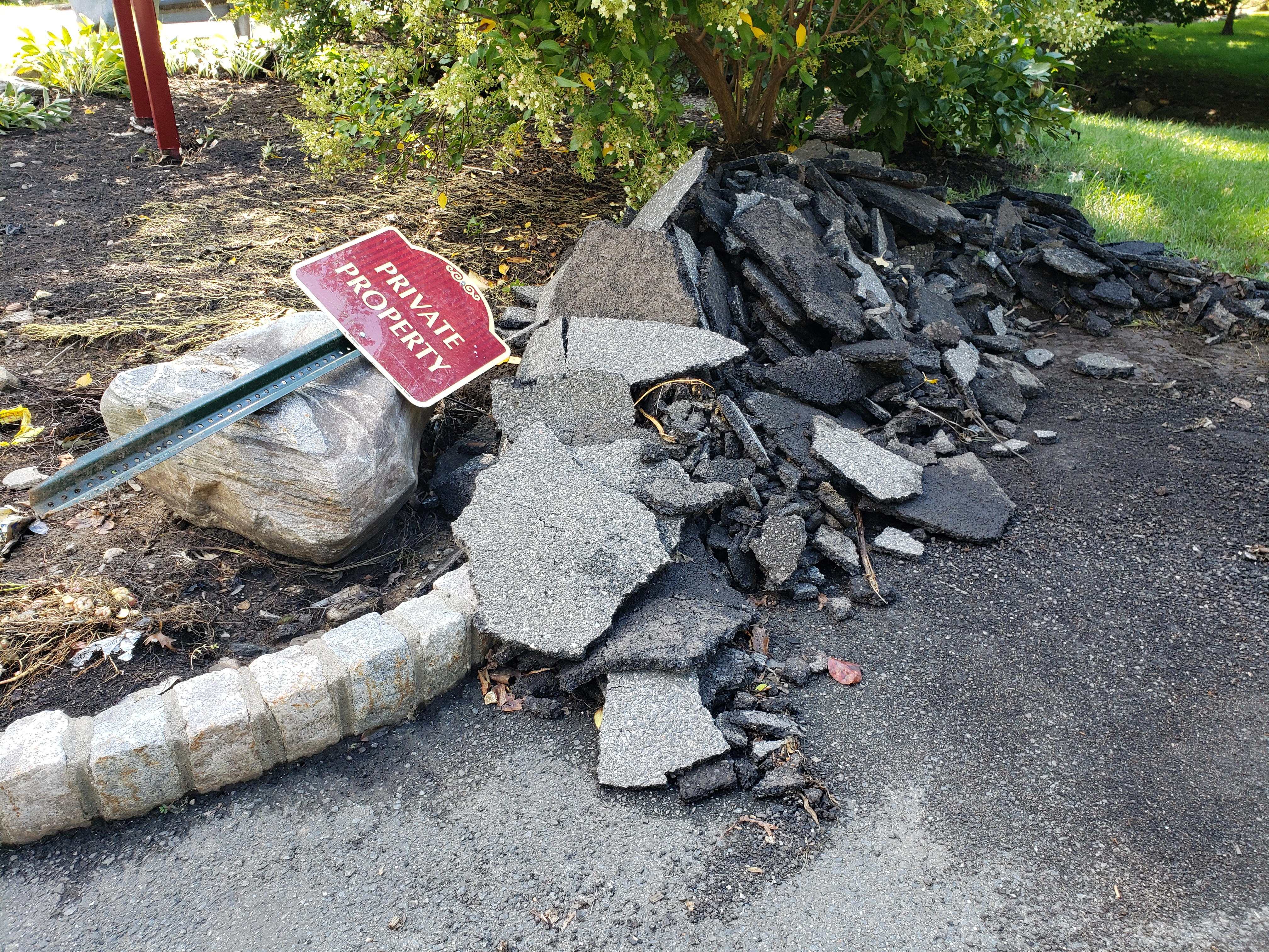 More ripped up pavement