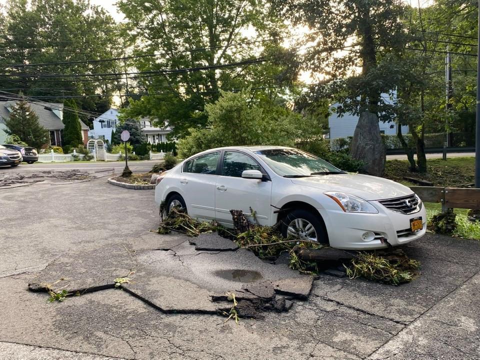 Damaged pavement