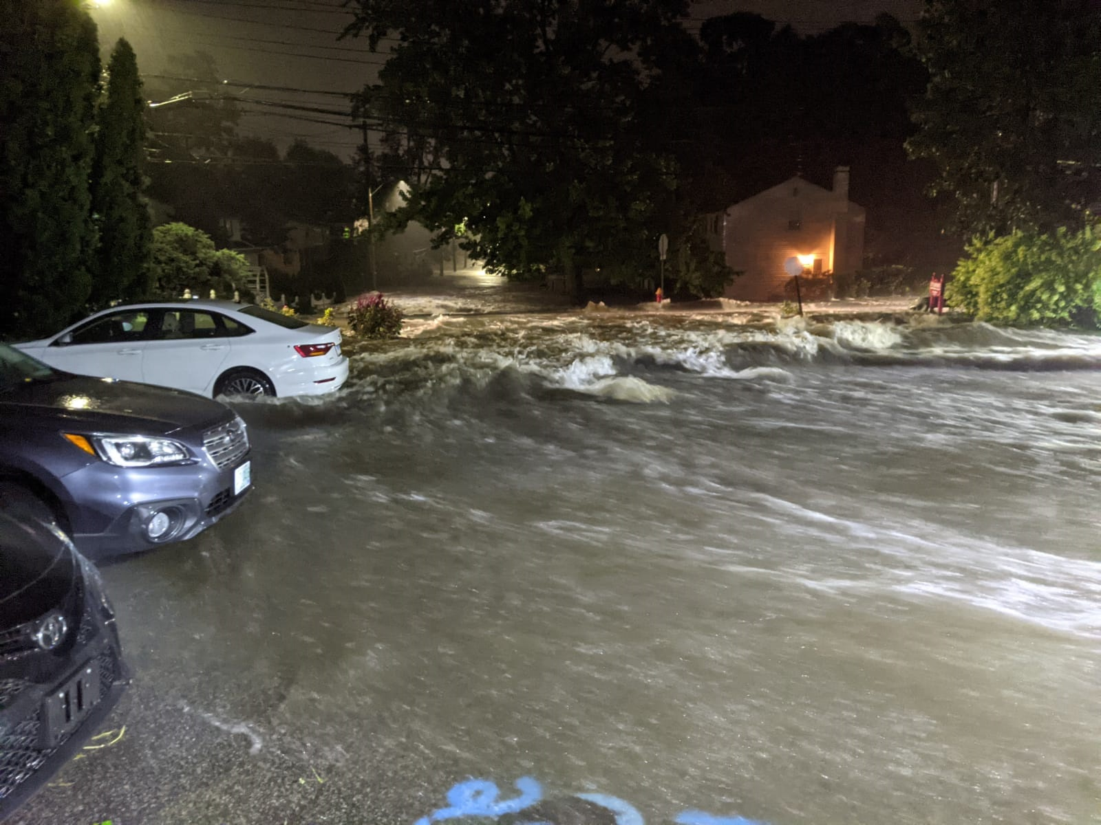 flood waters and vehicles